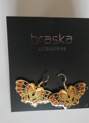 Braska. эмалированные серьги
