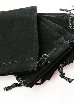 Черный бархатный мешочек 5*7 см. (1000 штук)