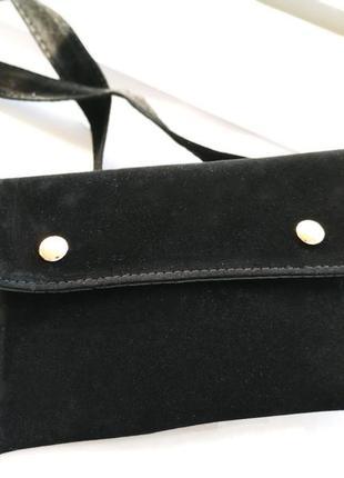 Поясная бархатная сумка, клатч