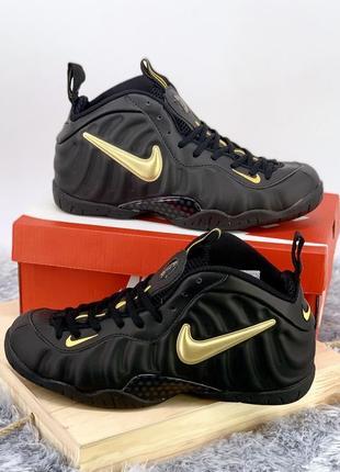 🤩nike foamposite pro black🤩крутые мужские чёрные высокие кросс...