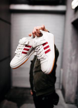 "Кроссовки Adidas Forum ""White/Red"""