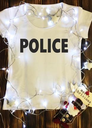 Женская футболка  с принтом - police