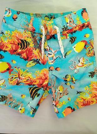 Шорты greendog пляжные гавайские с трусиками внутри, мальчику ...