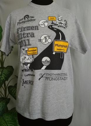 🏈 футболка серая женская screen stars.