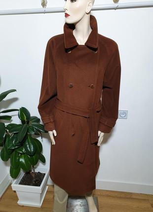 Женское кашемировое пальто brioni 100% кашемир идеальное