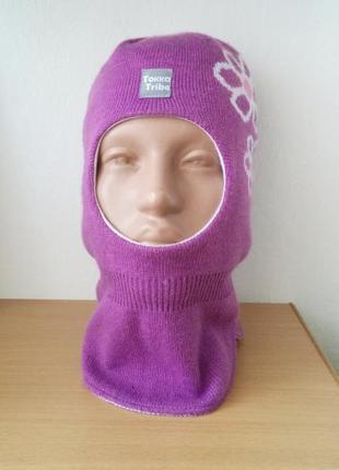 Зимняя шапка - шлем детская, лижная
