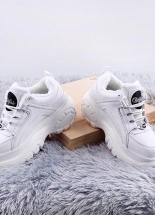 Buffalo london classic white женские/жіночі кроссовки белые с ...
