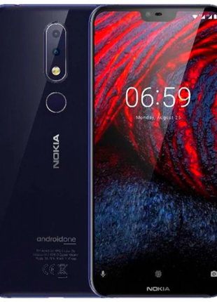 Глобальная Nokia 6.1 Plus 6Gb RAM 64Gb ROM Blue Наложка