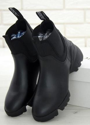 Женские ботинки dior d-connect chelsea black демисезон (арт. 1...