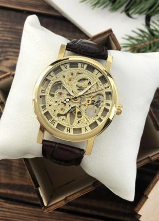 Мужские механические часы Winner Diamonds / наручные часы