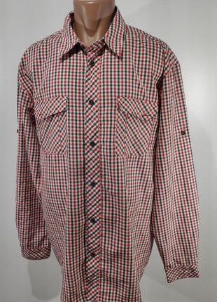Мужская рубашка в клетку фирменная размер хl
