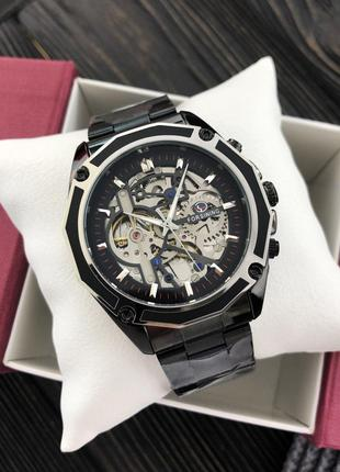 Механические часы Winner Diamonds (silver-black)
