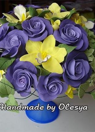 --> Эксклюзивный Подарок Реалистичные Цветы Ручной Работы ИНДИГО