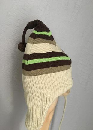 Мягенькая шапочка шапка для мальчика 3-6мес