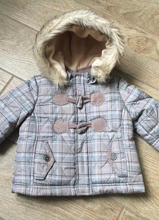 Куртка пуховик лёгкая пух перо на малыша 3-6мес chicco