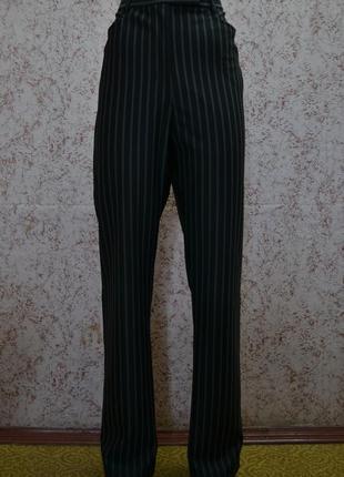 Полосатые брюки с высокой посадкой