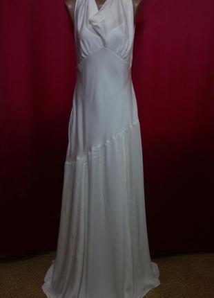 Вечернее свадебное платье в пол