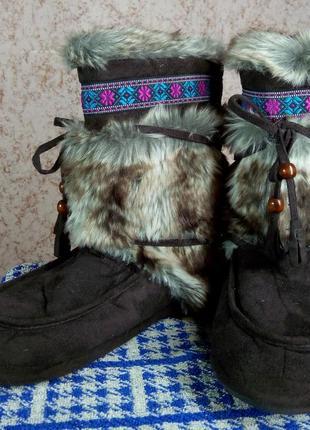 Тапочки меховые сапожки