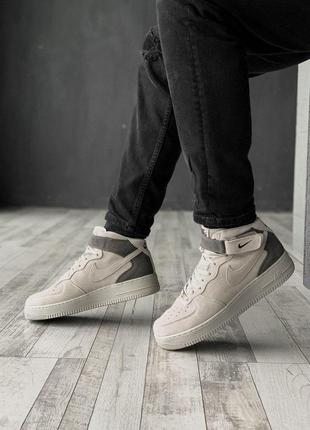 Nike air force зимние мужские ботинки в сером цвете /осень/зим...