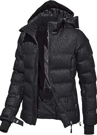 Горнолыжная лыжная сноубордическая черная куртка crivit- pro