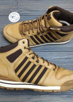 Кожаные теплые кроссовки ботинки k-swiss оригинал!