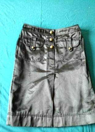 Черная юбка с отливом
