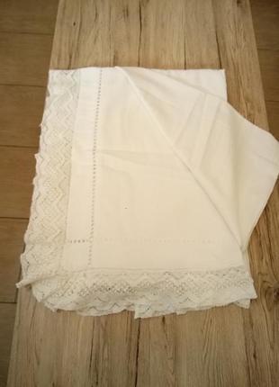 Узорная простынь-покрывало из домотканого полотно