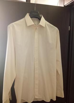 Рубашка из тонкого хлопка итальянского производства (без кармана)
