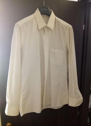 Рубашка итальянского производства (светло-персиковая с карманом)