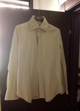 Рубашка итальянского производства (цвет -светлый хаки)