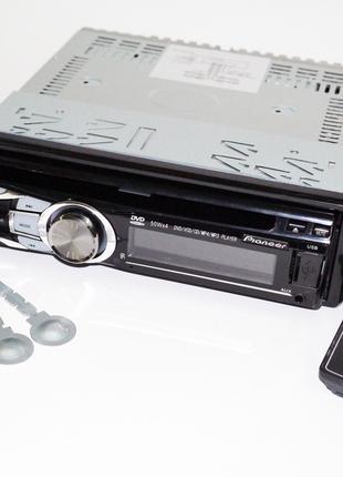 Автомагнитола DVD  Pioneer 3218 USB+Sd+MMC съемная панель
