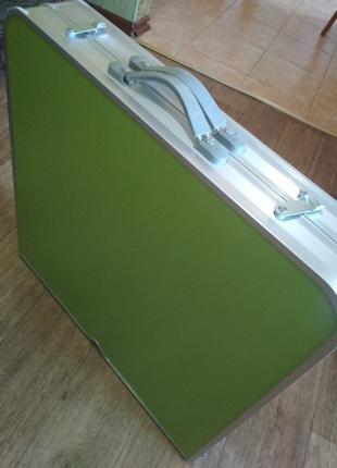 Усиленный стол для пикника раскладной с 4 стульями салатовый