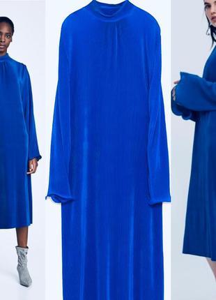 Плиссированное платье от zara