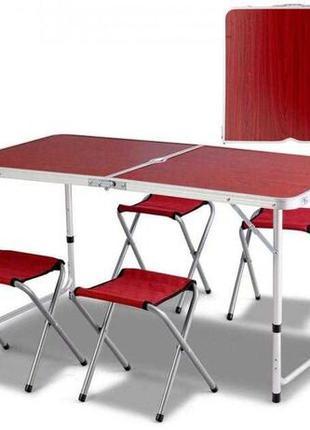 Усиленный стол для пикника раскладной с 4 стульями Easy Camping