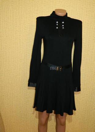 Платье новое черное для школы на рост 170 см. каменская фабрик...