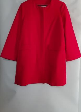 Пальто красное mango