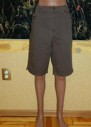 Шорты женские джинсовые коричневые размер 46-48