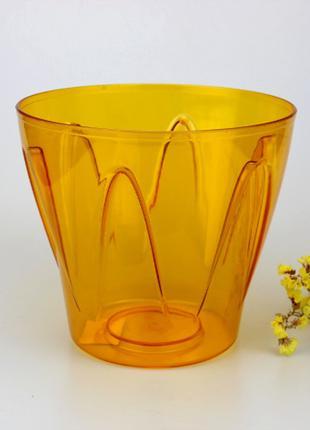 Кашпо для орхидей Аркада 2 л оранжевый