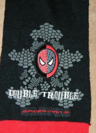 Шарф детский черный с красным человек-паук spider-man tesco на...
