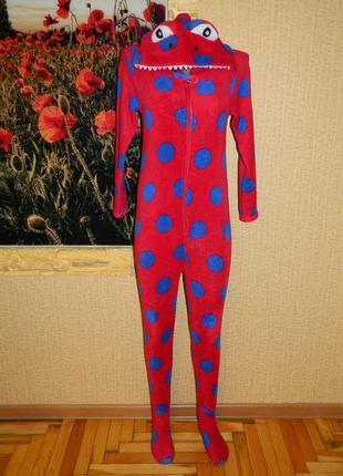 Пижама слип дракон красный в синий горох 11-12 лет essentials ...