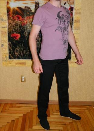 Брюки мужские черные размер 52-54 doef