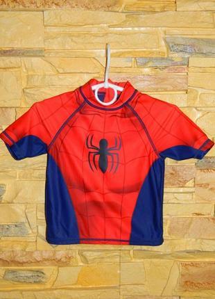 Футболка детская для купания человек-паук marvel spider-man на...