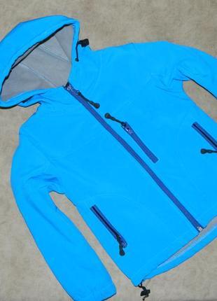 Куртка детская демисезонная голубая на мальчика 3-4 года mish.