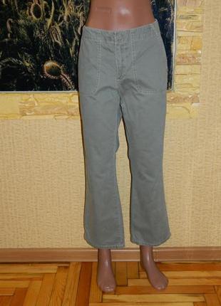 Штаны брюки джинсы женские цвет светлая оливка размер 46-48 ol...