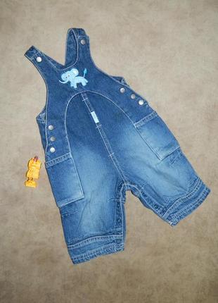 Комбинезон детский джинсовый со слоником на малыша 4-6 месяцев...