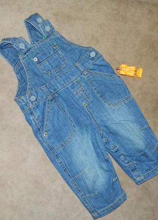 Комбинезон джинсовый детский на мальчика 3-6 месяцев marks an...