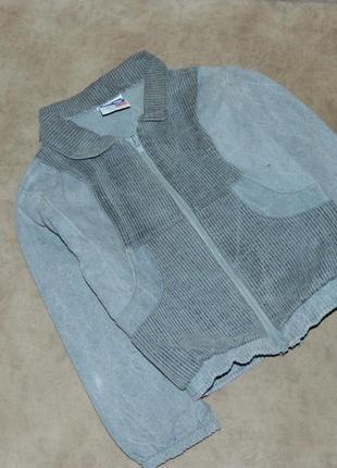 Куртка детская джинсовая серая на мальчика к 3-4 года.