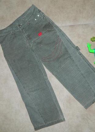 Джинсы детские зелёные на мальчика 6-7 лет