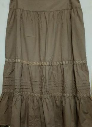 Хлопковая юбка в пол