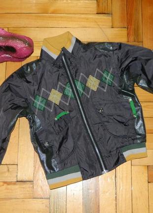 Куртка детская демисезонная серая на мальчика 3-4 года.